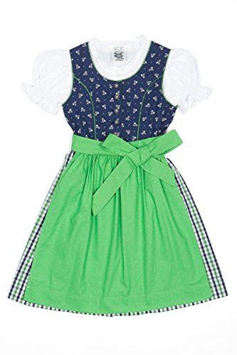 Isar-Trachten Kinderdirndl PIA blau/grün K010013 92