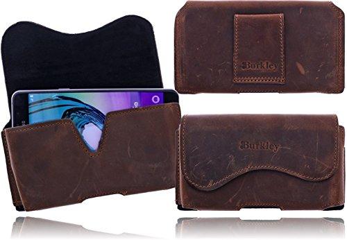 Burkley–Vintage Design–Pelle Custodia Per Apple iPhone SE/5/5S custodia elegante in   Custodia protettiva   Cellulare   Verticale della case caso telefono         Cover con passante per cintura e  Marrone caffè