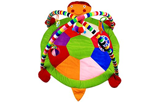 Ole Baby Plushy Butterfly Twist and Fold Musical Activity Play Gym-Newborn PlayMat with Mosquito Net 0-30 Months