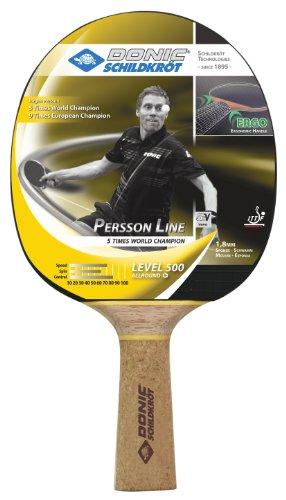 Donic Schildkröt Tischtennis-Schläger Persson 500 Korkgriff, schwarz / rot
