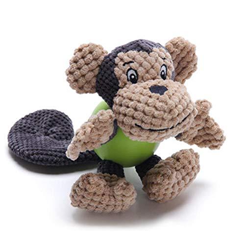 Perro juguete de peluche masticar juguete lindo sonido juguete dental pulido morder suministros para mascotas