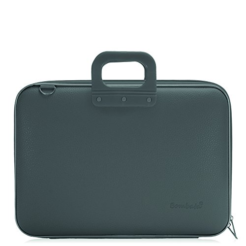 Bombata Maxibombata Classic Aktentasche für 17 Zoll Laptop, Grau - Grau Laptop Attache