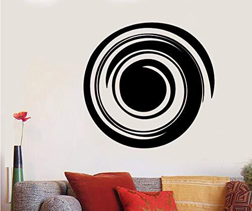 Lvabc 44X42 Cm Enso Kreis Wandtattoos Yoga Mediation Balance Decor Wand Vinyl Aufkleber Aufkleber Schlafzimmer Wohnzimmer Home Interior Ornament