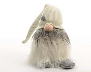 Izaneo - Gnome de noel deco bonnet gm creme