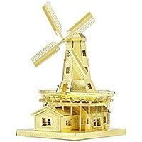 Supuzzleman Fai da Te Dutch Windmill Jigsaw Puzzle Metallo 3D Puzzle Metallico Modello