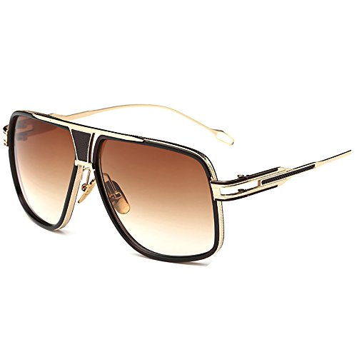 Kaimao Herren Sonnenbrille Gold and Dark Brown
