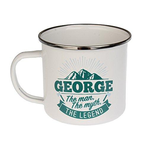H & H Top Guy Kaffeebecher George, groß, emailliert, ca. 400 ml, mehrfarbig, leicht, Retro-Design inspiriert für Herren Family Guy Bier