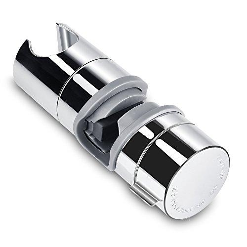 Soporte para ducha Aoleca 18-25mm ABS Cabezal de ducha de repuesto ajustable para cabezal Cursor Brazo de sujeción 360° Rotar Bracket PB4 para cuarto de baño, Cromo
