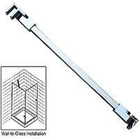 """40cm acero inoxidable panel de ducha sin marco puerta fijo wall-to-glass Barra de apoyo para 1/4""""a 3/8"""" de grosor cristal por M-Home"""