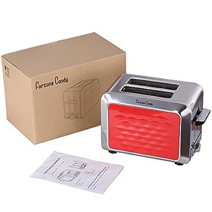 Rot-2-Scheiben-Toaster-mit-Breiter-Steckplatz-fr-kleine-und-groe-Brotscheiben-Bagels-850-Watt
