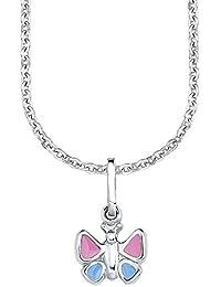 Amor Kinder-Kette längenverstellbar Mädchen mit Anhänger Schmetterling 925 Sterling Silber 35 + 3 cm