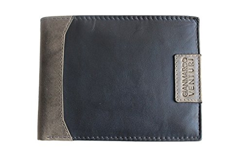 Portafogli uomo Gian Marco Venturi l.washed mod.con portamonete 85223 blu