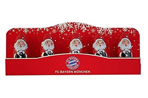 Preisvergleich Produktbild FC Bayern München 5er Mini Weihnachtsmänner Nikolaus 60g*NEU*OVP*