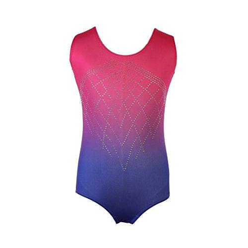 Body Ragazza, KISSION Senza Maniche Gradiente Colore Ginnastica di Balletto Body