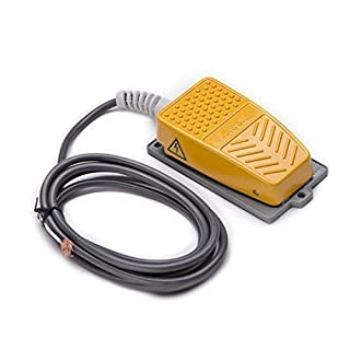 QLOUNI Industrielle Fußschalter Momentary Metall Fußpedal Schalter 250 V 10A Tritttaster