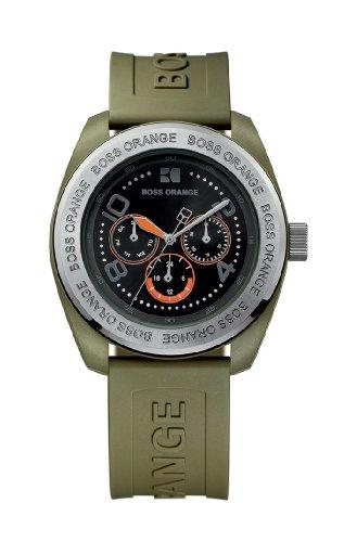 Hugo Boss 1512551 – Reloj de caballero de cuarzo, correa de varios materiales color verde