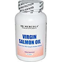 Los suplementos de suscripción, Virgen aceite de salmón, 90 Cápsulas Blandas ...