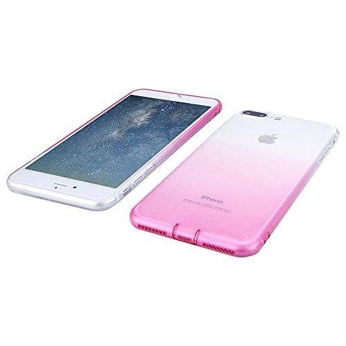 Pridot Gradient Colour TPU Custodia Case for iPhone SE 5S 5 Ultra Thin Caso Anti Slip Soft Bumper Scratch Resistant Back Cover Crystal Clear Flexible Silicone Case - Blue Sky 80203 Rosa
