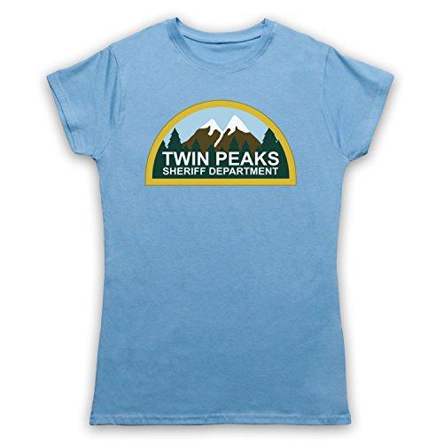 Inspiriert durch Twin Peaks Sheriff Department Unofficial Damen T-Shirt Hellblau