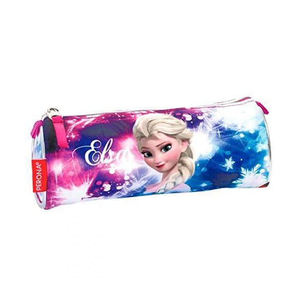 Disney Frozen- Estuche portatodo Tubo, Multicolor, 22 cm (Montichelvo 53780)
