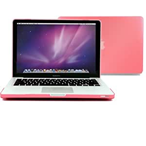 "GMYLE® Pink Frosted Matte Rubber Coated See Thru Hard Shell Clip Snap On Case Skin Cover for Apple 13.3"" inches Macbook Pro Aluminum Unibody - With Silicone Pink Protective Keyboard Cover - 2 in 1 - (not fit for 13 Macbook Pro with Retina display)"