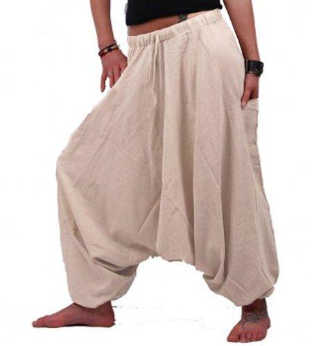 Kunst und Magie Damen Orientalische Haremshose Pumphose Shalwar Hose Muck Aladinhose Hosenrock Hanffarben