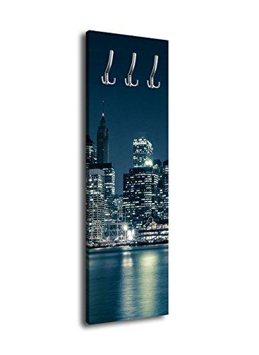 wandmotiv24 Perchero con diseño NY City G18740x 125cm-Perchero de Pared Skyline América Big Apple