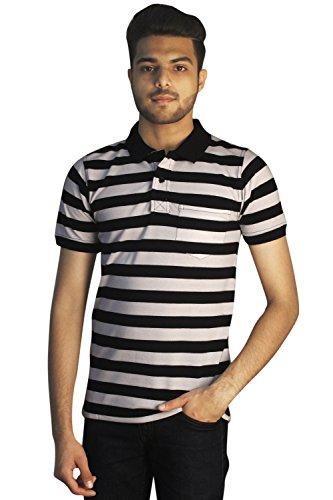 Tapasya Black White Polo T-Shirt - B072QW1ZYD