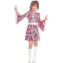 Amscan Girls Miss 60s Hippie Costume Kids Fancy Dress