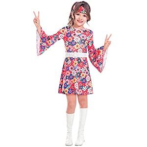 Amscan Girls Miss 60s Hippie Costume Kids Fancy Dress