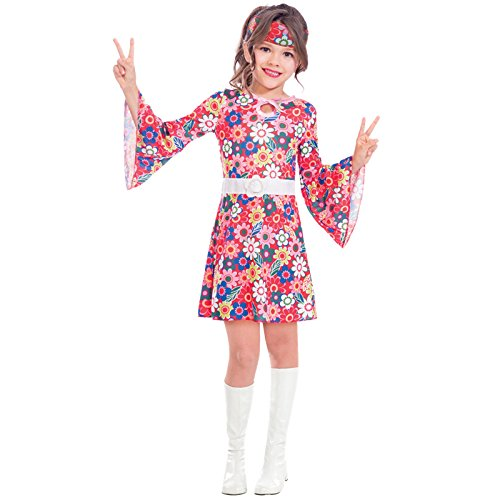 Fräulein aus den Sechzigern - 60er Jahre hippie Kostüm Kinder Mädchen Amscan (Kinder Kostüm Hippie)
