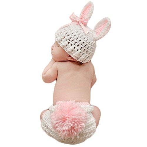 QHGstore-Abbigliamento-bambino-sveglio-del-Crochet-appena-nato-del-bambino-puntelli-foto-costume-bambino-Fotografia-Puntelli-Coniglio-Fiore-della-neonata-Abiti-Set