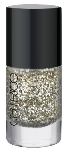 Catrice Cosmetics Ultimate Nail Lacquer Effect Top Coat Nagellack Nr. 41 Two Million Dollar Baby Farbe: Gold / Silber Glitzer Partikel Inhalt: 10ml Nagellack Nail Polish Top Coat Gold-silber-nagellack