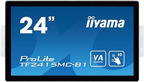 iiyama ProLite TF2415MC-B1 60,5cm (23,8 Zoll) VA LED-Monitor Full-HD Open Frame 10 Punkt Multitouch kapazitiv (VGA, HDMI, DisplayPort, USB für Touch, IP65) schwarz