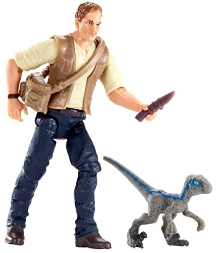Mattel FMM01 Jurassic World Basic Figure Owen and Baby Blue