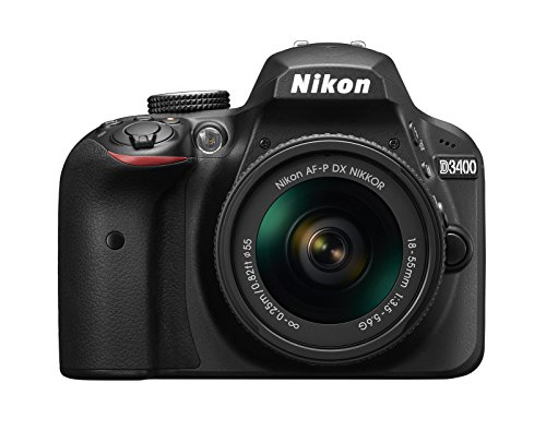 Nikon D3400 - Cámara digital de 24.2 MP (DX, CMOS, Full HD, 5CPS, 100 -25.600 ISO,TLL, LCD TFT, 3'') - kit cuerpo con lente AFP DX 18/55 VR