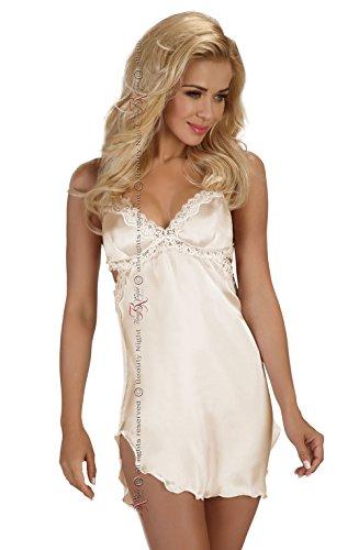 Sexy Bridal Ivory chemise satin babydoll Slip lingerie set plus size 8 10 12 14 16 18 UK - 41AK7 2B9RniL - Sexy Bridal Ivory chemise satin babydoll Slip lingerie set plus size 8 10 12 14 16 18 UK