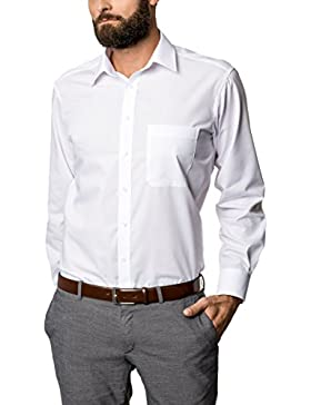 Eterna Long Sleeve Shirt Comfort Fit Poplin Uni