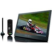 """Reflexion LED1017T2HD - Televisión portátil de 10"""" (led tv con antena DVB-T, control remoto, adaptador de 12v, fuente de alimentación), color negro"""