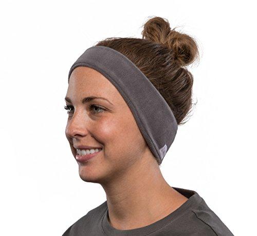 AcousticSheep SleepPhones Kabellos Bluetooth Stirnband-Schlaf-Kopfhörer - Vlies, Weiches grau, groß