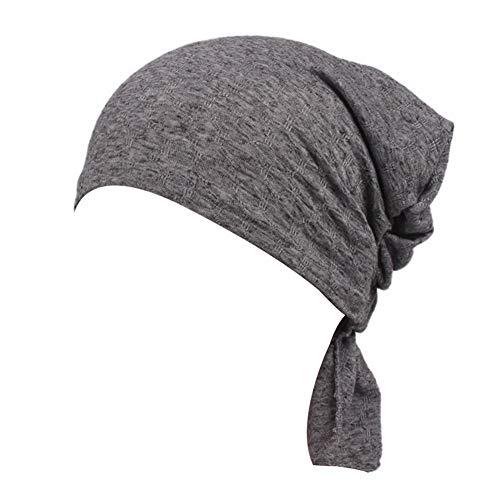 MQIMAL Turban lässige Chemotherapie Krebs elastischen Kopf Blase Baumwolle Capes nationalen Jacquard Wildtuch Tuch Stirnband Außenschlauch Maske multifunktionale Kappe bei Nacht Sport Hut,meshgray -