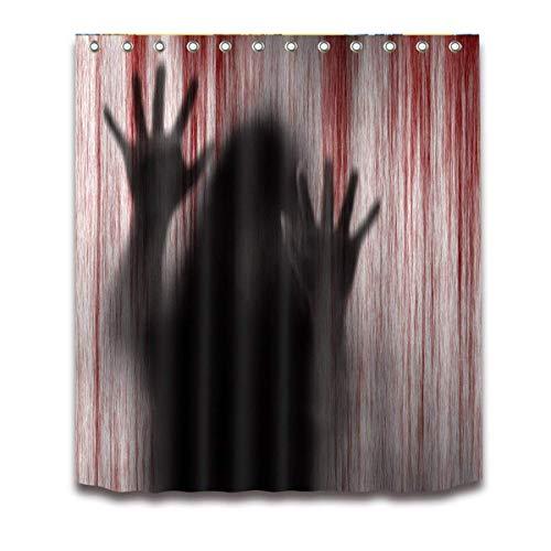 LEXPON Badezimmer Duschvorhang mit blutigen handprints 3d-Badezimmer Duschvorhang 150 x 180 cm