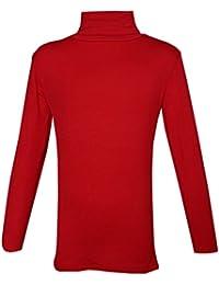 487572b93 Kaaya Childrens Girls Plain Long Sleeve Polo Neck Kids Top T-Shirt School  Summer Age