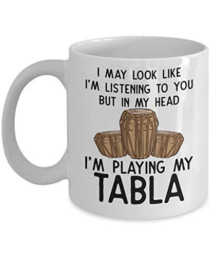 Andrea1Oliver Tabla-Musiker-Kaffeetasse Tabla-Spieler-indische Trommel-indische Musik-Musikinstrument-Percussion-Geschenke Trommel-Spieler-Perkussionist-Geschenk - Trommel-musik Indische
