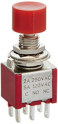 DPDT momentáneos Color Rojo botón Interruptor de Tapa de 120 V 5...