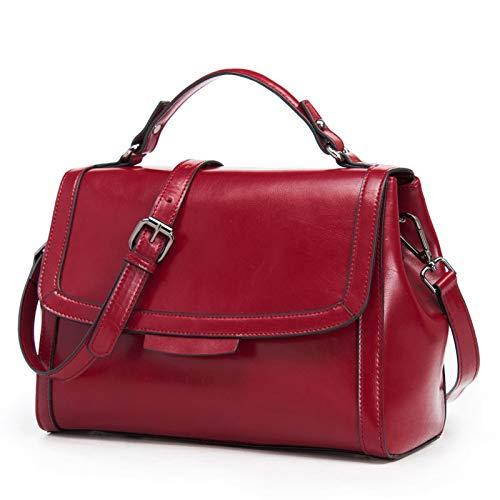 Damen Leder Handtasche, Multi-Layer Messenger Tasche Verstellbarer Schultergurt Mode Elegante...