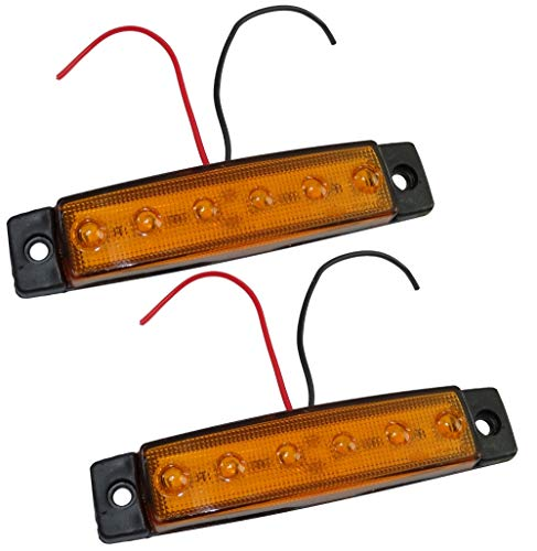 Lot de 2 Feu de Gabarit PLAT ROUGE et BLANC Ampoule 12v Neuf 70mm