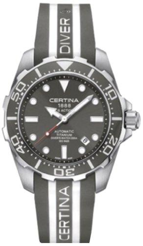 gentlemen-wristwatch en caoutchouc automatique analogique XL Certina C013407.47.081.01.