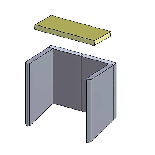 Heizgasumlenkplatte 205x390x30mm (Schamotte)