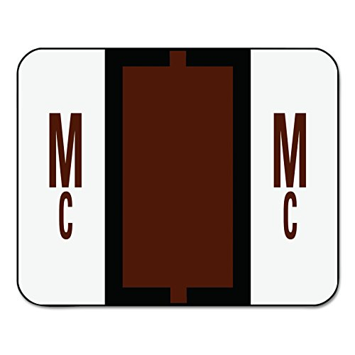 Smead BCCR Bar Style Color Coded Labels Mc - Brown 500pieza(s) - Etiqueta autoadhesiva (31,8 mm, 25,4 mm, 500 pieza(s), 1 hojas)